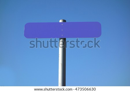 empty signal on a perfect blue sky