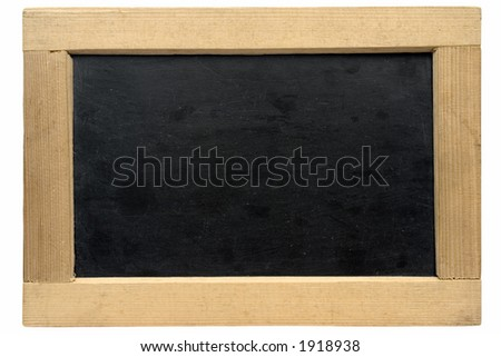 Empty small chalkboard w/ Path
