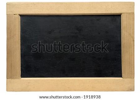 Empty small chalkboard w/ Path - stock photo