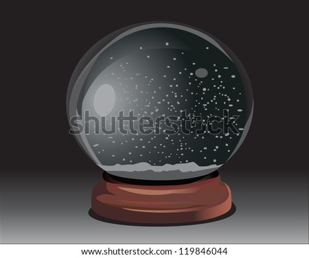 empty snow dome over black background Raster version, vector file id: 118843954 - stock photo