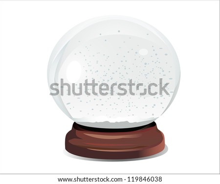 empty snow dome over white background Raster version, vector file id:118843963