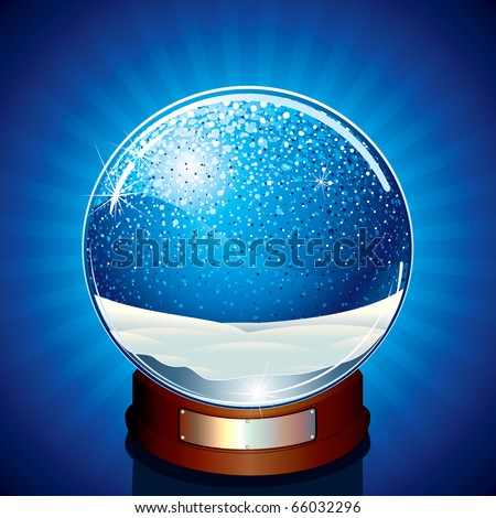 Empty Snow Globe - ready for your greeting text or design - vector version at my gallery - stock photo