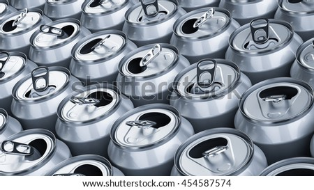 Empty soda cans- - 3D illustration