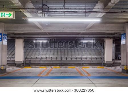 underground parking lot basement parking car stock photo 417971464 shutterstock. Black Bedroom Furniture Sets. Home Design Ideas