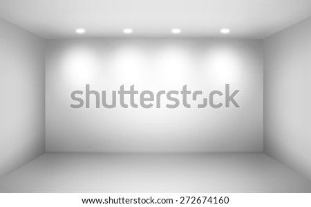 Empty space (empty wall in a room) - stock photo