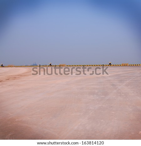 Empty Spaces under the blue sky - stock photo