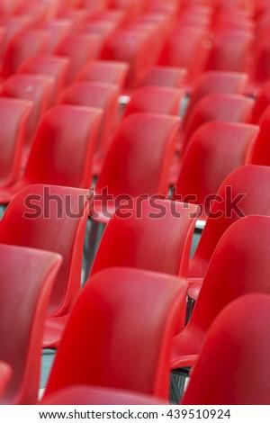 Empty Stadium seats  - stock photo