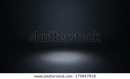 Empty stage 3d illustration - stock photo