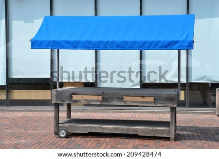 Empty stall - stock photo