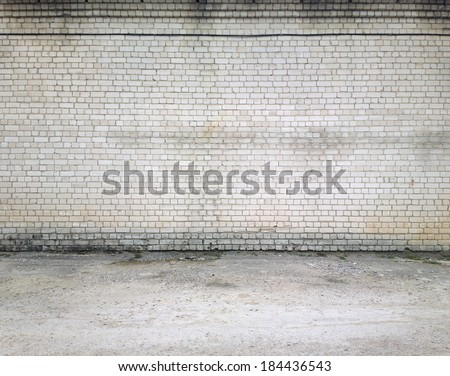 Empty street wall background, texture