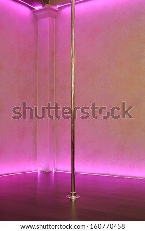 Empty stripper pole background - stock photo