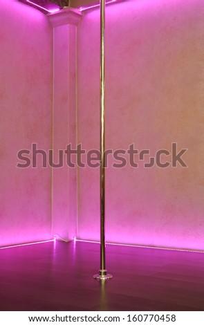 Empty stripper pole background - stock photo