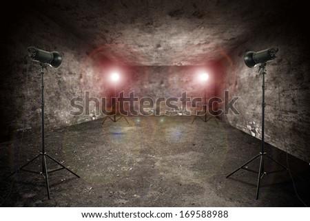empty studio  - stock photo