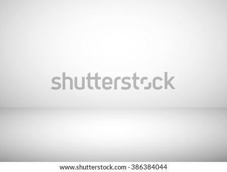 Empty studio room white gradient abstract background - stock photo