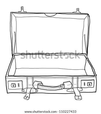 open koffer kleurplaat open koffer kleurplaat kleurplaat