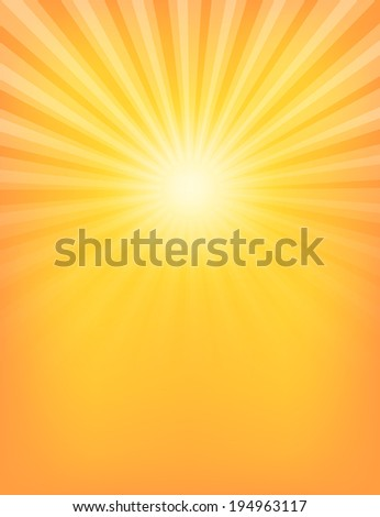 Empty Sun Sunburst Pattern