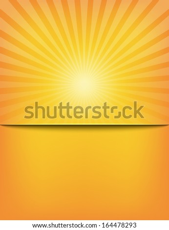 Empty Sun Sunburst Pattern template