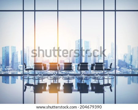 Empty sunny office - stock photo