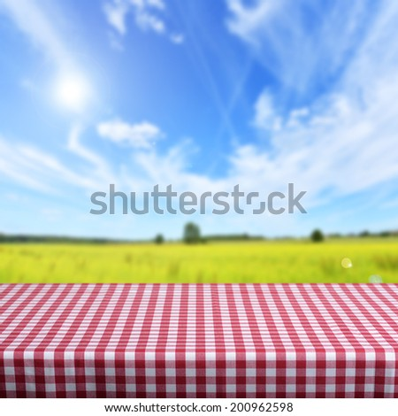 empty table for porduct display montages  - stock photo