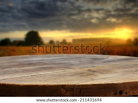 empty table for product display montages - stock photo