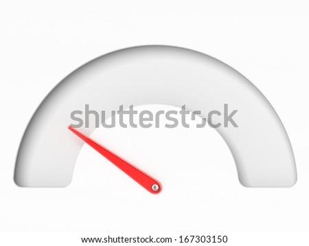 Empty Tachometer - stock photo