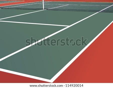 Empty Tennis Court - stock photo