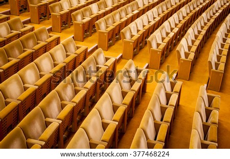 Empty theater auditorium cinema or conference hall.  - stock photo