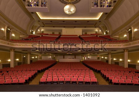 empty theatre seating - stock photo