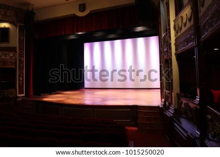 Empty Theatre Stage Area