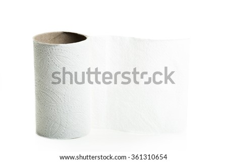 Empty toilet paper rolls  - stock photo