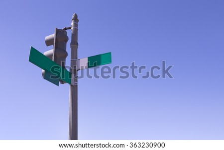 Empty traffic light sign in Washington DC - stock photo