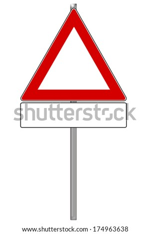 empty traffic sign isolated over a white background / Traffic Sign