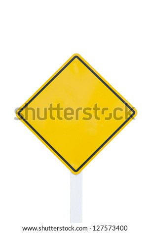 empty  traffic sign on white background - stock photo