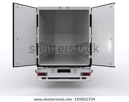 empty trailer - stock photo