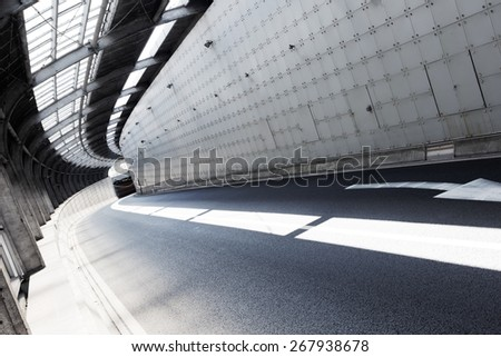 Empty tunnel of modern city  - stock photo