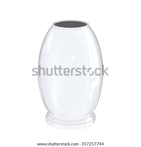 Empty vase isolated on white background