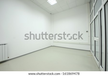 empty vestibule in the modern office building - stock photo