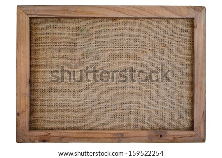 Empty vintage note board isolate on white background - stock photo