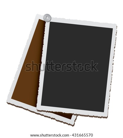 Empty vintage photo frames - stock photo