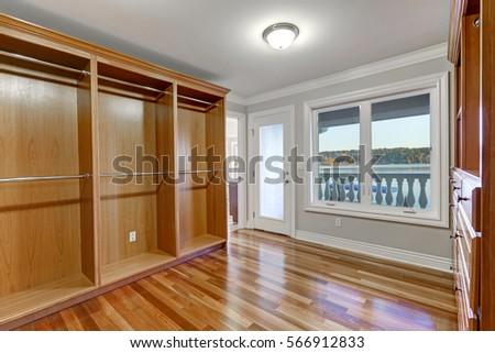 empty walk in closet. Beautiful Closet Empty Walk In Closet With Hardwood Floor And Door To Balcony Northwest USA On Walk In Closet