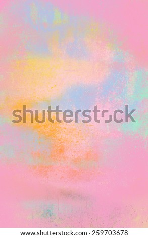 Empty Wall in Pastel Colors - stock photo