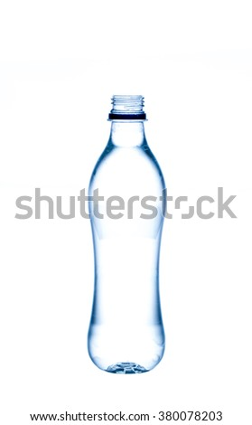 empty water bottle isolated on white background