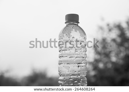 Empty water bottle without cap - stock photo