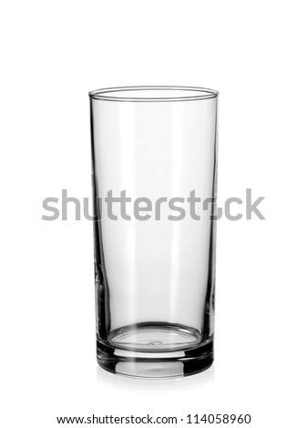 Empty water glass