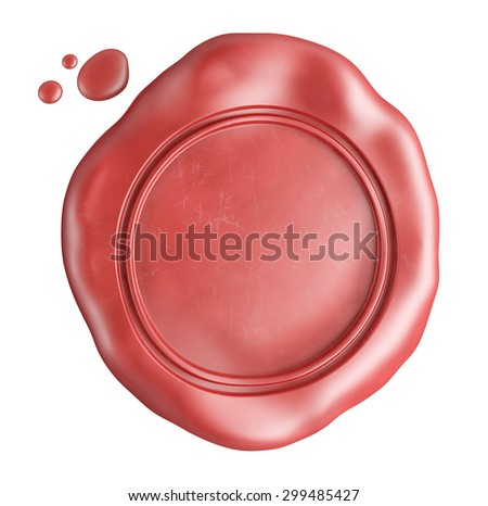 empty wax seal isolated on white