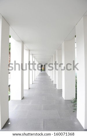 Empty way area - stock photo