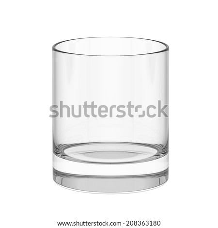 Empty whiskey glass. isolated on a white background - stock photo
