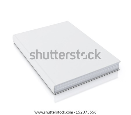 empty white book isolated on white background - stock photo