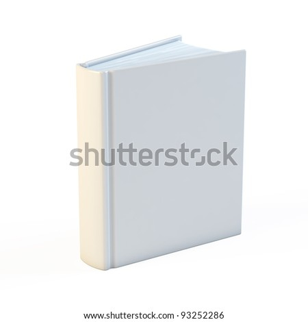 Empty white books isolated on the white background - stock photo