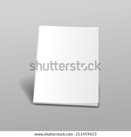 Empty white books  isolated Perfect  blank cover